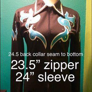 Tops - Black Custom Made Western Show Shirt